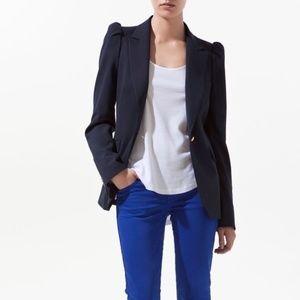 ZARA Navy Blue Blazer, Size S